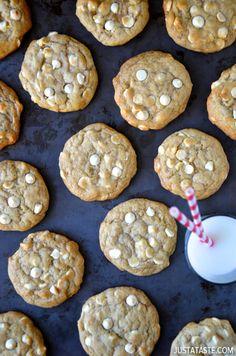 White Chocolate Cheesecake Cookies #recipe