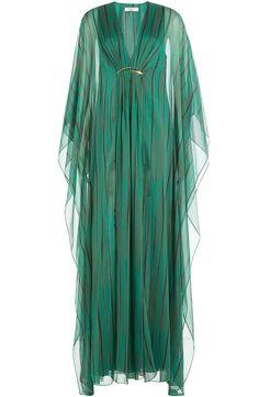 Designer Clothes, Shoes & Bags for Women Front Slit Dress, Maxi Dress With Slit, Chiffon Maxi Dress, Sheer Chiffon, Sheer Dress, V Neck Dress, Transparent Dress, See Through Dress, Print Chiffon