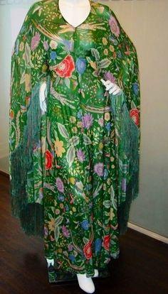 Missoni 1970's silk floral cape