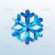 Polygonal Christmas Snowflake - Miscellaneous Vectors