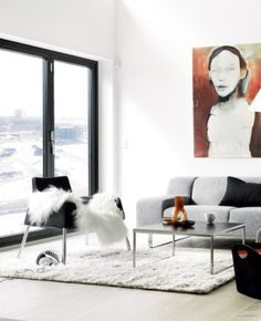 Nu säljer jag min soffa! Bolia Seville 2,5 sits Bolia Sofa, Living Area, Living Room, Scandinavian Living, Seville, Interior Design, Gate, House, Furniture