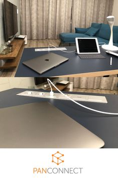 FLAT is almost alligned with surface of your work desk and all connectors are easily accessible without requiring too much space on the table. Work Desk, Conference Room, Surface, Flats, Table, Design, Home Decor, Products, Preppy Desk