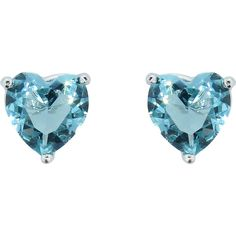 18K White Gold Plated Colorful Heart Studs: Aqua (€4,54) ❤ liked on Polyvore featuring jewelry, earrings, blue, jewelry & watches, colorful earrings, white earrings, 18k earrings, aqua earrings and gold plated earrings