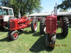 Farmall  Super Tractors r-l:Super M  & Super H