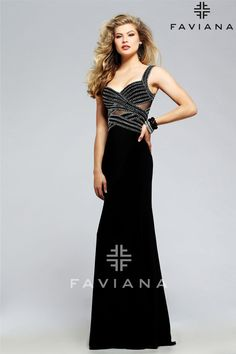 ce70897090b S7806 Black Cut-Outs Faviana Glamour - black prom dress with open back at  Hope s