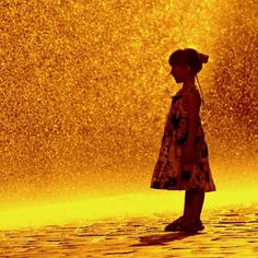 Standing in a Golden Rain. Looks like Mar in one of her many new birthday summer dresses!