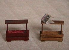 Illustrated instructions for simple miniature magazine rack\table | Source: Lektuurbak