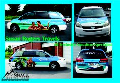 Susan Rogers Travels specializes in All Inclusive Vacations.  Sandals recently helped with her mobile billboard by wrapping her 2005 Toyota Sienna.  #carwrap #mobileadvertising