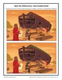 Noah Bible Story for Children - Spot the Differences Activity