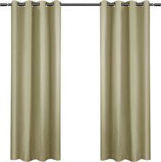 Leslie Blackout Grommet Curtain Panel Pair