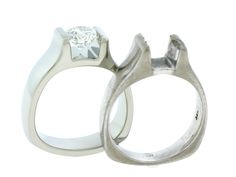 Old tension set ring - we reset clients diamond in a new platinum setting! gorgeous!