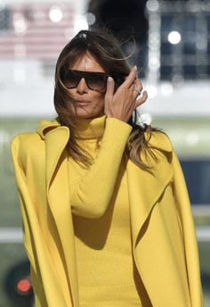 """First Lady Melania Trump Such a beautiful color for our lovely """"always stylish"""" First Lady ❤️"""