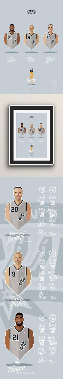 Big 3 / Western Conference / NBA on Behance