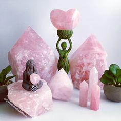 Need Rose Quartz? For all you crystal needs visit our website www.CrystalHealingForWomen.com #crystals #crystalhealing #rosequartz #goddess #crystalshop #crystalsforsale #decor #pink #love