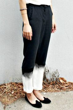 I am going to try this with some old silk pants   -- must find a bleach that won't eat up silk.