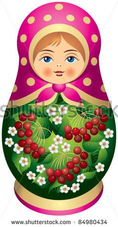 stock vector : Matryoshka doll with red berries in vector, Russian nested doll… Matryoshka Doll, Kokeshi Dolls, Fabric Dolls, Paper Dolls, Frida Kahlo Cartoon, Girls Quilts, Arte Popular, Wooden Dolls, Russian Art