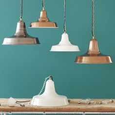 H.34cm W.45cm D.45cm £119 Industrial Pendants - Chandeliers & Ceiling Lights - Lighting - Lighting & Mirrors
