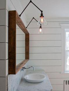 Ξύλινοι καθρέφτες στο μπάνιο | What A Mess