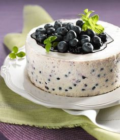 Blueberry Cheesecake, Pastry Cake, Test Kitchen, Cheesecakes, Yummy Cakes, Amazing Cakes, Feta, Cupcake Cakes, Pudding