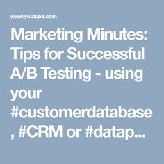 Marketing Minutes: Tips for Successful A/B Testing Data Science, Ab Testing, Software, Value Proposition, Email Marketing, Success, Tips, Ideas