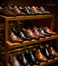Seriously. My heart is racing. The Monk Strap Collection by Paul Stuart, NYC. 500.00 to 1,200.00 USD.