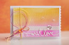 With Love - Scrapbook.com - Gorgeous watercolor card.