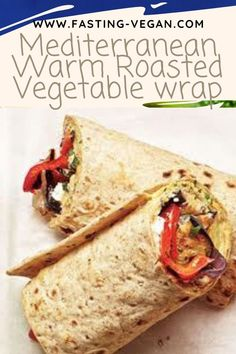 These deeply satisfying warm wraps are equally good when served cold. Try them as a lunchbox meal. Simply allow the vegetables to fully cool before constructing the wrap. Lunch Box Recipes, Wrap Recipes, Vegan Recipes Easy, Vegetarian Recipes, Supper Recipes, Veggie Recipes, Veggie Hummus Wrap, Veggie Wraps, Roasted Veggie Wrap Recipe