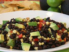 Black-Bean-Dip-with-Avo-and-Chips-2 by The Simple Skillet, via Flickr