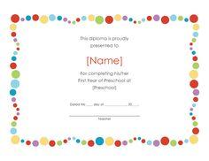 Preschool Graduation Certificate Template Free | ⇢Kindergarten⇠ | Pinterest  | Preschool Graduation, Certificate And Template  Graduation Certificate Template Free