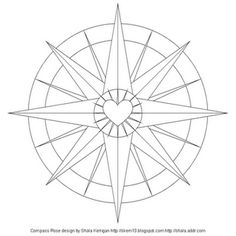 compass rose coloring page craft ideas pinterest compass rose