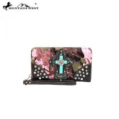 MW67-W003 Western Spiritual Collection Camo Wallet-Pink