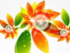 Floral Abstract Background Vector Graphic