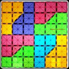 Make patterns with Magna-Tiles!