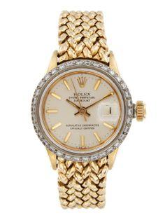 Rolex Round Gold & Diamond Watch, 21mm by Rolex at Gilt