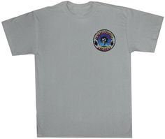 Grateful Dead Shirt Skull and Roses Adult Silver Tee T-Shirt Grateful Dead T-shirts 100% heavyweight cotton Grateful Dead T-shirt. This small pocket