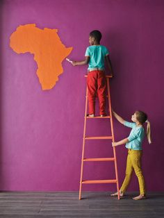 This colour (purple) African Tribal Patterns, African Colors, South African Decor, South African Artists, Plascon Colours, Urban Tribes, African Interior, Teacher Style, We Are The World