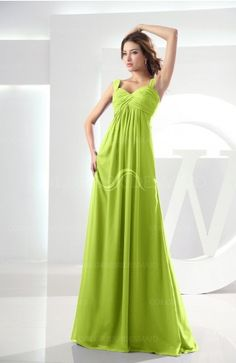87ef5f8df3901 Bright Green Modest Empire Thick Straps Zipper Floor Length Ruching Prom  Dresses Coral Bridesmaid Dresses,