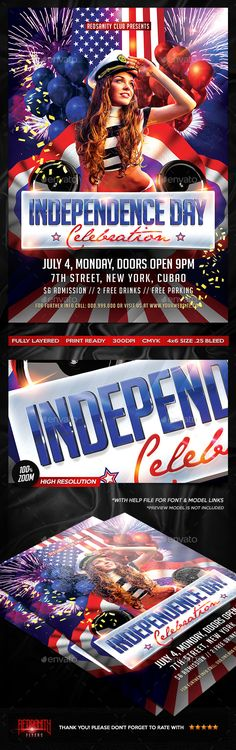 4th of July Independence Day Flyer Template Flyer template - independence day flyer