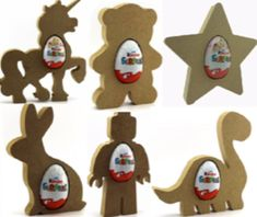 Festive Free Standing 18mm MDF Gingerbread Man Craft Shape Various Sizes Xmas