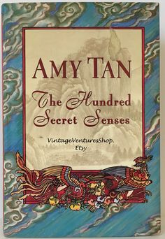 Amy Tan collectible book, special edition at #VintageVenturesShop #Etsy to buy click image #AmyTan #JoyLuckClub #HundredSecretSenses #Book #Fiction #Novel #GiftForBookLover #Reading #CollectibleBook #DecorativeBook