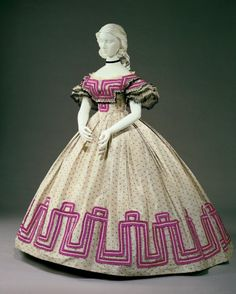 Afternoon dress, 1862-64
