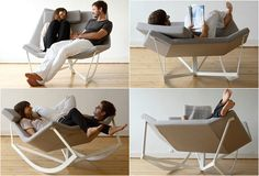 Sway Rocking Chair by Markus Krauss. Great Furniture design for two. Read more at jebiga.com