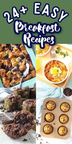 Whether you're looking for something sweet, savory, muffins or casseroles, these Easy Breakfast Recipes are for you! Great for busy mornings! #gogogogourmet #easybreakfastrecipes #breakfastrecipes #easybreakfasts via @gogogogourmet