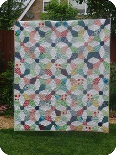 Needles, Pins and Baking Tins: A Kaleidescope Quilt