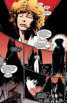 David Bowie inspired versions of Lucifer in the Sandman (by Neil Gaiman and Sam Kieth)