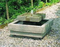 Escala Fountain - Material : Cast Stone - Finish : GreyStone