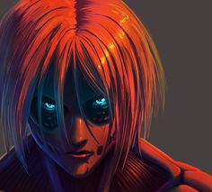 "idylean: ""One face a day The Female Titan (shingeki no kyojin) "" Armin, Snk Annie, Titan Shifter, Female Titan, Annie Leonhart, Humanoid Creatures, Aot Characters, Attack On Titan Fanart, Attack Titan"