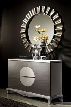 1000 images about muebles on pinterest entrance ideas for Espejo vintage plateado