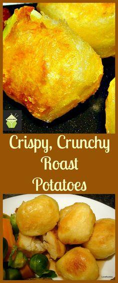 Super Crispy Crunchy Roast Potatoes. Crispy on the outside and fluffy inside!