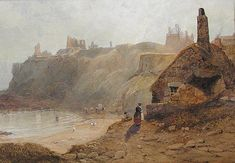 Buy Thomas Miles Richardson (Senior) King Edwards Bay and the Tynemouth Headland and other Victorian paintings and watercolours at James Alder Fine Art North Shields, Miles Richardson, Victorian Paintings, North East England, North Sea, Historical Architecture, Historical Pictures, Newcastle, Thomas Miles